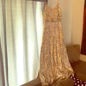 Donna Morgan Rose Gold Sequin Dress